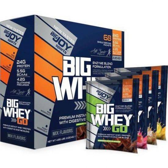 Big Joy Big WHEY GO! Protein 2200 Gr (68 Paket)